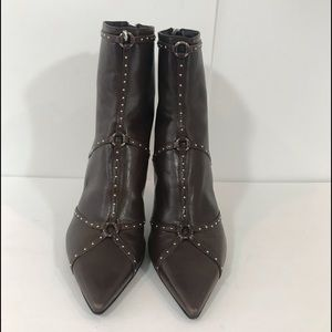 Dior Brown Leather booties